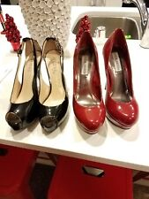 women steve madden red shoes, guess shoes size 7