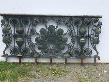 35 ft Antique Bronze Brass Balcony Fence Railing Vanderbilt Mansion NYC 426-17E