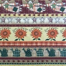 New listing Angel Sunflower Watering Can Oakhurst Fabric 3 Yards