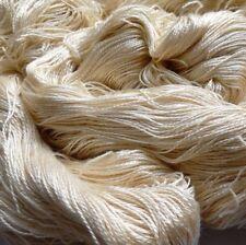 Luxury Maharaja Laceweight Silk Yarn, 100g. Cream. Weaving/Textiles/Crochet/Knit