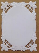 • • • Die Cuts - Embossed MATS #8...x7 - White - Stampin Up C/S - Cards