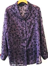 ELLEN TRACY STUNNING L/S SHIRT, SZ 14, EXC COND, FAB FOR EVENING, RRP $89.95!