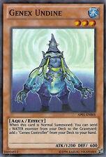 Near Mint-1x-Unlimited-Genex Undine-AP01-EN005-Super Rare-YuGiOh-