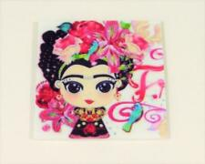 M51 FRIDGE MAGNET - PRETTY GIRL WITH FLOWERS IN HER HAIR - 40 x 40mm