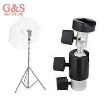 C-type Hot Shoe Ball Head Flash Bracket Holder Mount for Camera Tripod Umbrella