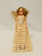 """Vintage 8-3/4"""" Plastic Doll with open & shut eyes and movable joints"""