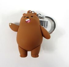 We Bare Bears Figural Keyring Series 1 Grizzly Bear Figure NEW