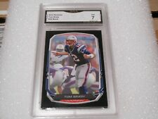 Tom Brady GRADED CARD!! 2013 Bowman Black #50 Tampa Bay Bucs MVP!! 7%-2
