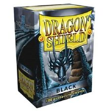 Dragon Shield Standard Size Card Barrier Protector Sleeves 100ct - Black