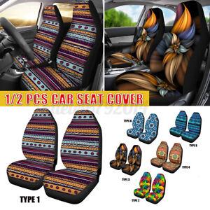Universal Car Front Seat Cover Protector Cushion Print Pattern Sedan SUV Truck