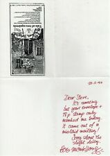 More details for bob monkhouse handwritten and signed letter