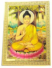 BUDDHA STICKER Hindu Gold Indian India God Yoga Buddhist (BG-08)