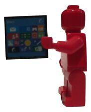Schermo computer Windows Custom Printed LEGO TILE per Minifigures