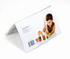 Cornice Doppia 10x15 Orizz. da tavolo in plexiglass - Espositore in acrilico