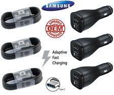 For Original Samsung Galaxy S10 S8 S9 Tab S3 Note8 Fast Car Charger Type-C Cable