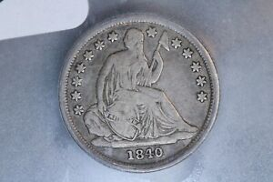 1840-O 10C Seated Liberty Silver Dime ICG VG10 Very Good Early US Type Set