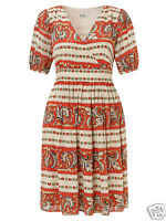 SOMERSET By Alice Temperley Watermelon Faux Wrap Dress (UK 12)
