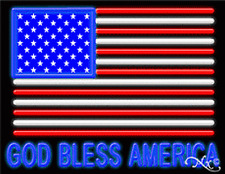 Brand New God Bless America 31x24 Real Neon Sign Withcustom Options 11240