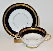 Rosenthal EMINENCE 5107 Cobalt Blue, Gold Laurel Cream Soup Bowl & Liner