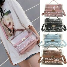 Mini Women Transparent Handbag Travel Beach Crossbody Shoulder Bag Clear Jelly