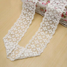 2 Yards White Lace Trim Fit DIY handicrafts headdress Sewing Wedding dress
