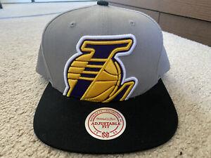 Mitchell & Ness Los Angeles Lakers SnapBack Hat New Gray color cap kobe lebron