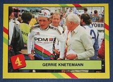Professional Cycling   Knetemann  1988 PDM Team     Colour Card