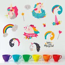 Unicorn Cartoon Removable Wall Stickers Nursery Decal Kids Baby Decor Art Mural