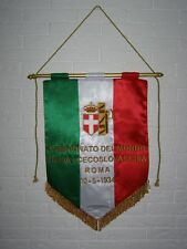 GAGLIARDETTO ITALIA WORLD CUP FINAL 1934 ITALY - CZECHOSLOVAKIA MATCH PENNANT