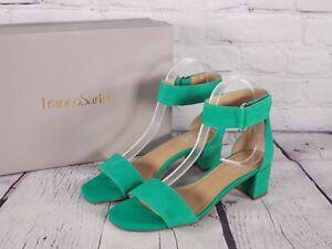 Franco Sarto - Block Heel Sandals - Rosalina - Kelly Green - 6.5 M
