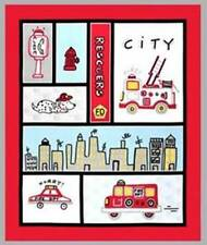 RESCUERS FABRIC PANEL DISNEY FABRIC FIRETRUCKS DOGS FABRIC Baby BOY fabric BTP
