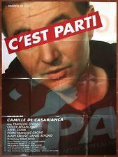 Affiche C'EST PARTI Camille De Casabianca OLIVIER BESANCENOT 120x160cm *