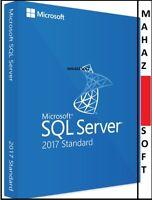 MSFT SQL SERVER 2017 STANDARD EDITION W/ 64BITS GENUINE LICENSE+DOWNLOAD++