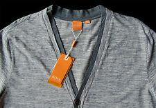 Men's HUGO BOSS ORANGE Gray White Cardigan Sweater Extra Large XL NWT NEW $155