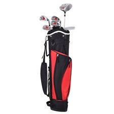 New 6 Piece Golf Club Set for Kids Wood Iron Putter w/Stand Bag Age 11-13