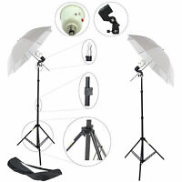 Kit DynaSun 2x SDW45 Photo Studio Slave Flash w/ Holder Umbrella Stand Bag Bulb