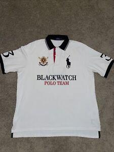 Polo Ralph Lauren The Mesh Knit Crown Crest Blackwatch Polo Team Polo Shirt 2XLT