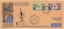 Beleg Flugpost Sabena Belgium - American Ass. 1946