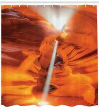 Usa Nature Sunbeam Through Sand Noon Antelope Canyon Extra Long Shower Curtain
