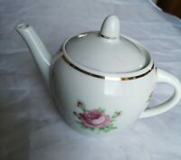 Vintage a Small Porcelaine Tea Pot with a Rose Around made in USSR 1965-1970