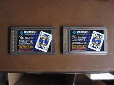2 Ositech Trump Card Jack of Spades 10 / 100 56k cardbus ethernet modem BaseTX