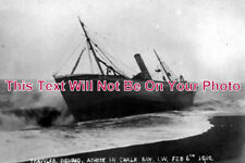 IO 226 - Trawler Nemrod Shipwreck, Chale Bay, Isle Of Wight 1910 - 6x4 Photo