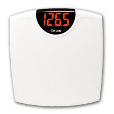 Taylor 9856 SuperBrite LED Bathroom Scale-350 lb/160 kg Capacity