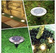 4 X 4 LED Lámpara de tierra vía energía solar Luces al aire libre luz de jardín de camino