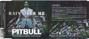 Pitbull Feat. Marc Anthony - Rain Over Me (2 Track Maxi CD)