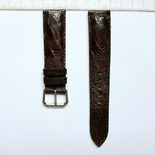 Wrist Watch Strap 20mm 204-5 Brown Chocolate Ostrich Real Leather