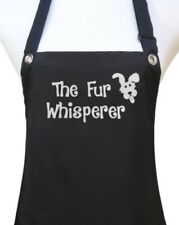 "Dog Grooming Apron ""FUR WHISPERER"" pet groomer salon waterproof dog wash new"