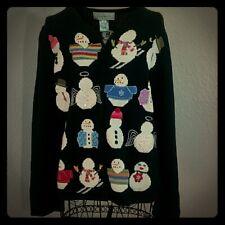 Vintage Susan Bristol Snowman Christmas Sweater Size Medium