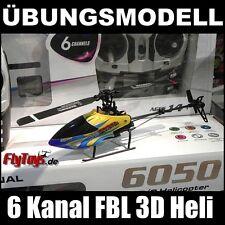 ★ÜBUNGSMODELL★ 3D RC Helicopter FBL Hubschrauber, 6 Kanal, 2,4GHz, Ersatz Akku