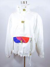 CARSON Designer Women's Vtg 70s Casual Hippie White Ski Jacket Oversized BC74